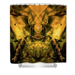 Leaf Water Worrior Shower Curtain