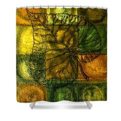 Leaf Whisper Shower Curtain by Leon Zernitsky