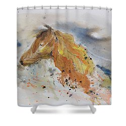 Leafy Horse Shower Curtain