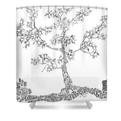 Leafy Jewels Shower Curtain by Regina Valluzzi