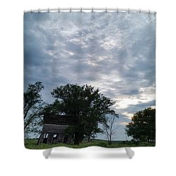 Lean Into It Shower Curtain by Caryl J Bohn
