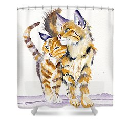 Lean On Me Shower Curtain by Debra Hall