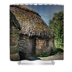 Leanach Farmhouse Culloden Moor  Shower Curtain
