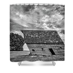 Leaning Barn Of Tuttle Shower Curtain