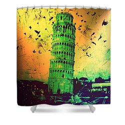 Leaning Tower Of Pisa 32 Shower Curtain