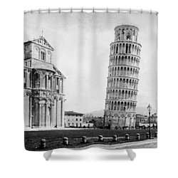 Leaning Tower Of Pisa Italy - C 1902  Shower Curtain by International  Images