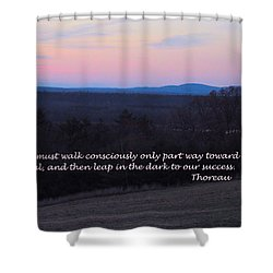 Leap In The Dark Shower Curtain