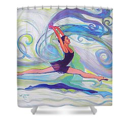 Leap Of Joy Shower Curtain by Jeanette Jarmon