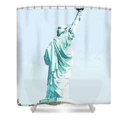 Leap Of Liberty Shower Curtain