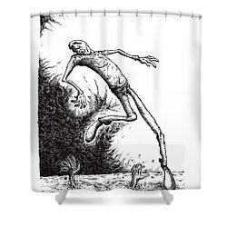 Leap Shower Curtain by Tobey Anderson