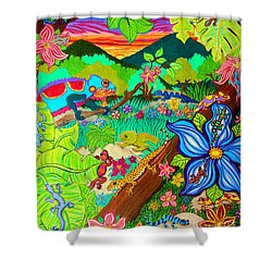 Leapin Lizards Shower Curtain