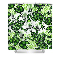 Leaping Frogs Shower Curtain