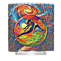Leaping Home Shower Curtain