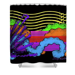 Leaps And Bound In The Sunshine Shower Curtain