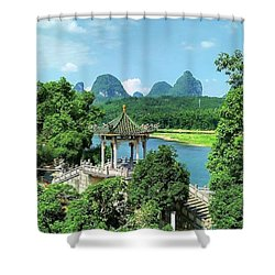 A View In Yangshuo Shower Curtain