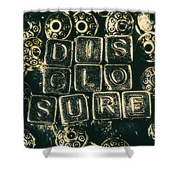Learning Blocks Of Disclosure Shower Curtain