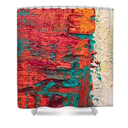 Learning Curve One Shower Curtain by Heather Roddy