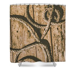Learning The Ropes Shower Curtain by Jorgo Photography - Wall Art Gallery