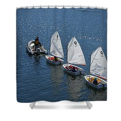 Learning To Sail Shower Curtain