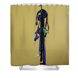 Leash Lady Just Hanging On The Wall Shower Curtain