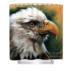 Leather Eagle Shower Curtain