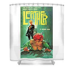 Shower Curtain featuring the painting Leather by Robert Bonfils
