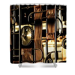 Leather Straps At The Harley Davidson Museum Shower Curtain