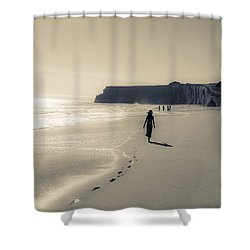 Leave Nothing But Footprints Shower Curtain
