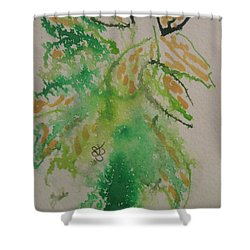 Shower Curtain featuring the drawing Leaves by AJ Brown