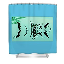 Leaves And Dragonflies 2 Shower Curtain