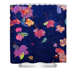 Leaves Shower Curtain by Christopher Woods