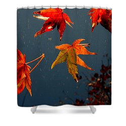 Leaves Falling Down Shower Curtain