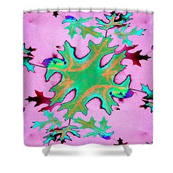 Leaves In Fractal Shower Curtain by Tim Allen