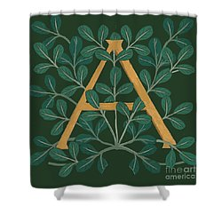 Leaves Letter A Shower Curtain