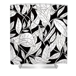 Leaves Shower Curtain by Lou Belcher