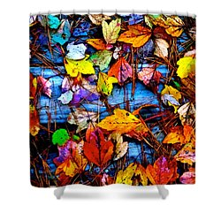 Leaves Of Colors  Shower Curtain