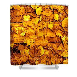 Leaves Of Sepia Shower Curtain