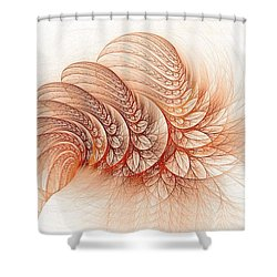 Leaves Of The Fractal Ether-2 Shower Curtain