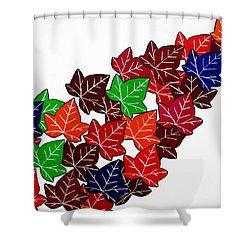 Leaves Shower Curtain by Oliver Johnston