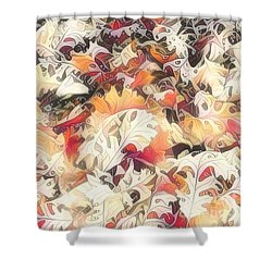Leaves On The Ground Shower Curtain by Diane Miller