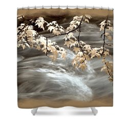Leaves Over Gossamer Waters Shower Curtain