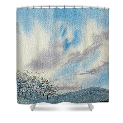 The Blue Hills Of Summer Shower Curtain