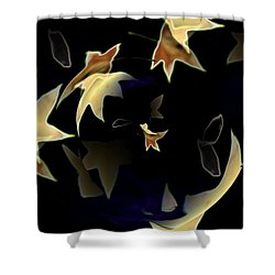 Leaves Shower Curtain by Tim Allen