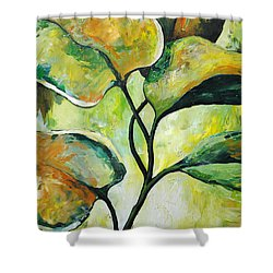 Leaves2 Shower Curtain by Chris Steinken