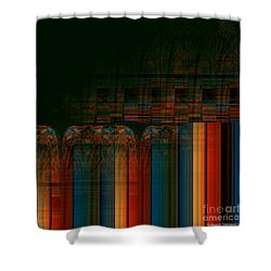 Leaving Darkness Shower Curtain