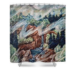 Leaving Eden Shower Curtain by Cheryl Pettigrew