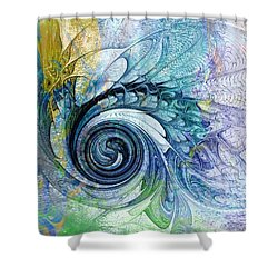 Leaving It All Behind Shower Curtain by Amanda Moore