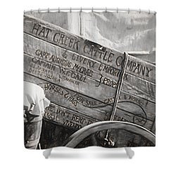 Leaving Lonesome Dove Shower Curtain by Donna Kennedy