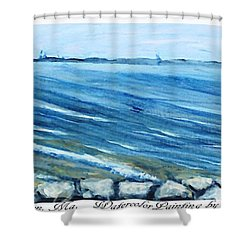 Leaving Provincetown Shower Curtain