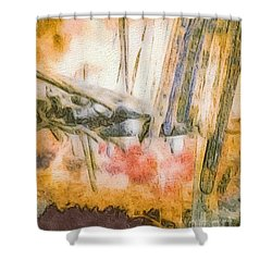 Leaving The Woods Shower Curtain by William Wyckoff